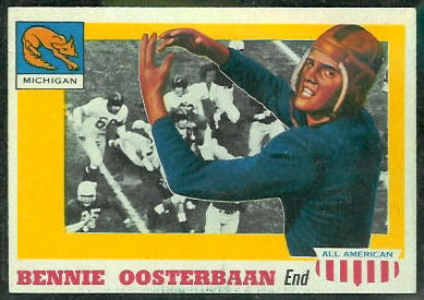 Bennie Oosterbaan 1955 Topps All-American football card