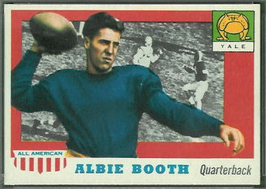 Albie Booth 1955 Topps All-American football card