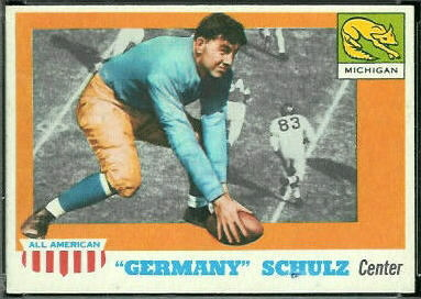 Germany Schulz 1955 Topps All-American football card