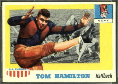 Tom Hamilton 1955 Topps All-American football card