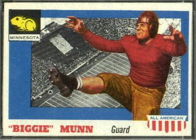 Biggie Munn 1955 Topps All-American football card