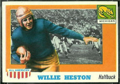 Willie Heston 1955 Topps All-American football card