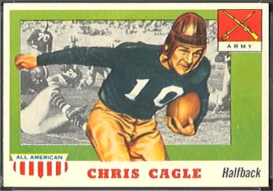 Chris Cagle 1955 Topps All-American football card