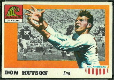 Don Hutson 1955 Topps All-American football card