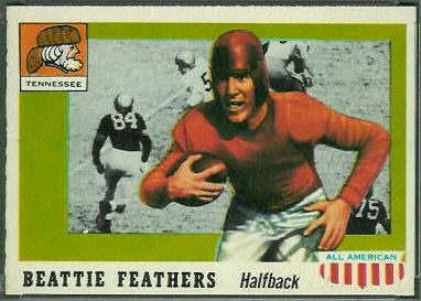 Beattie Feathers 1955 Topps All-American football card