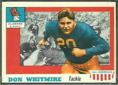 Don Whitmire 1955 Topps All-American football card