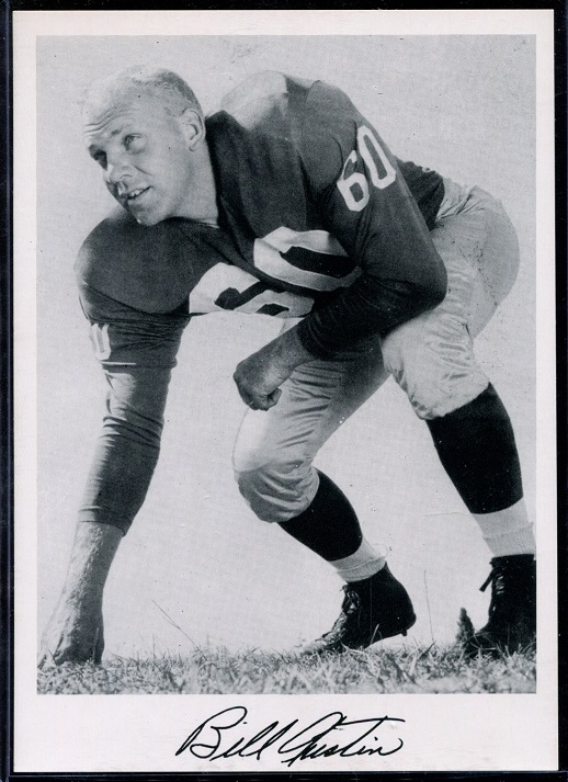 Bill Austin 1956 Giants Team Issue football card