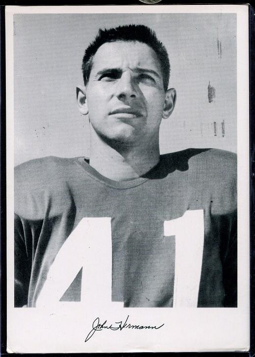 John Hermann 1956 Giants Team Issue football card