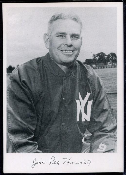 Jim Lee Howell 1956 Giants Team Issue football card