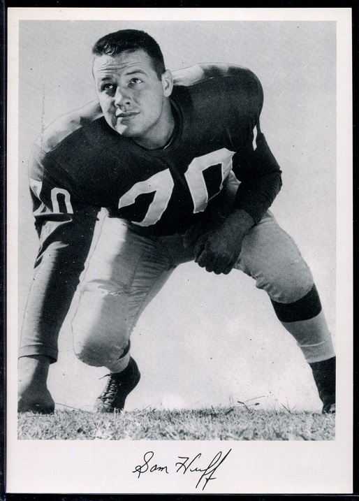 Sam Huff 1956 Giants Team Issue football card