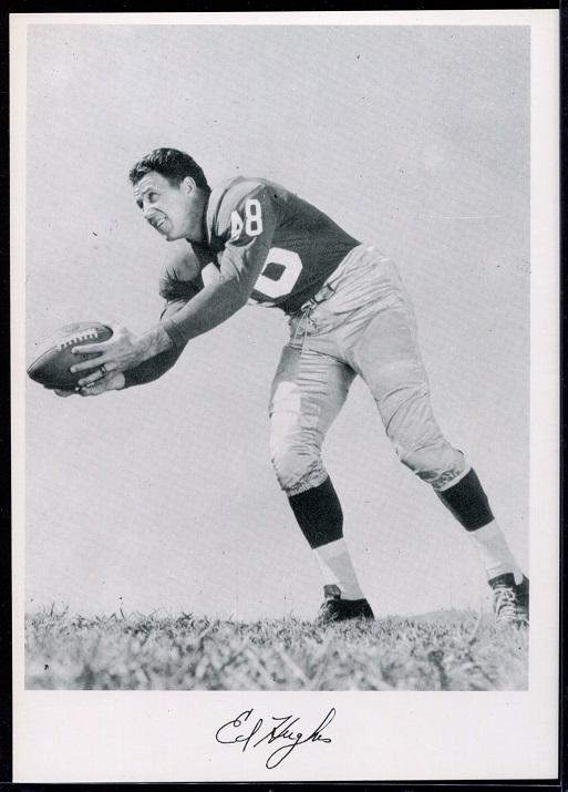 Ed Hughes 1956 Giants Team Issue football card