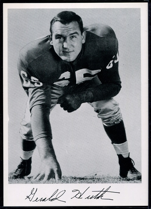 Gerry Huth 1956 Giants Team Issue football card