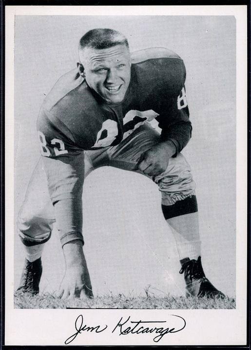 Jim Katcavage 1956 Giants Team Issue football card