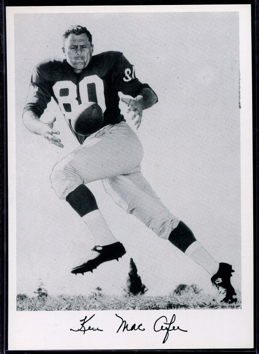 Ken MacAfee 1956 Giants Team Issue football card