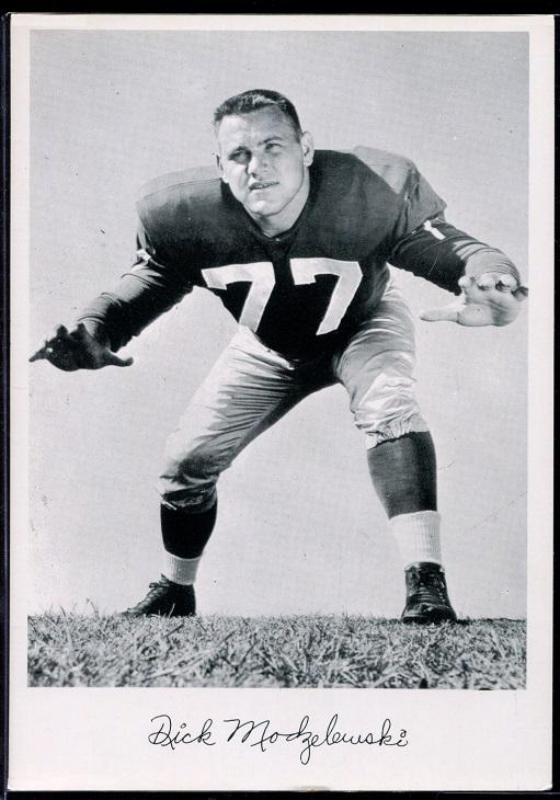Dick Modzelewski 1956 Giants Team Issue football card