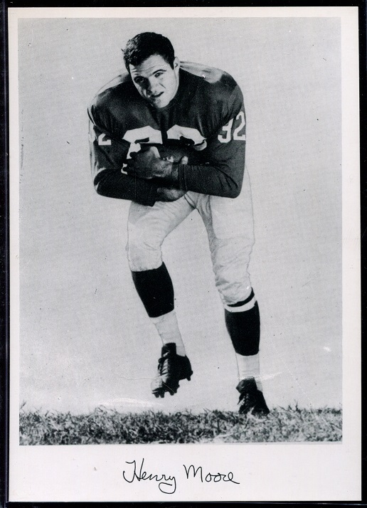 Henry Moore 1956 Giants Team Issue football card