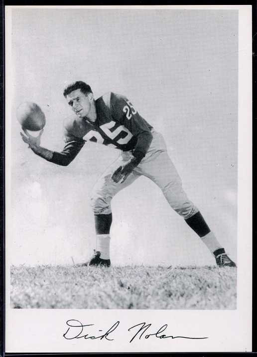 Dick Nolan 1956 Giants Team Issue football card