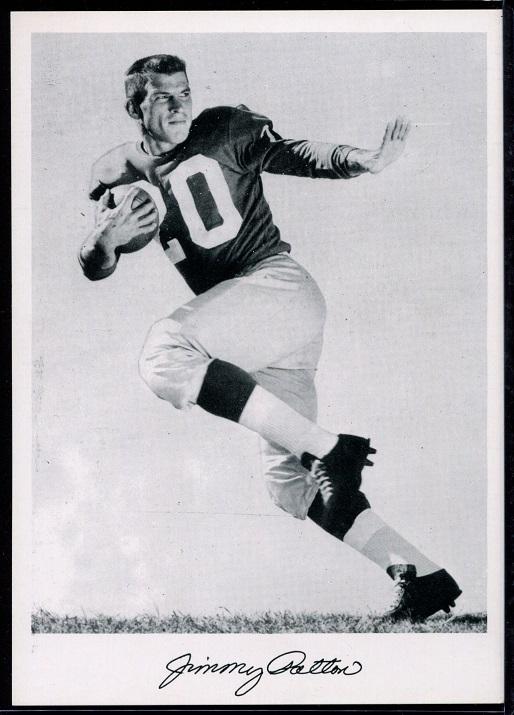 Jim Patton 1956 Giants Team Issue football card