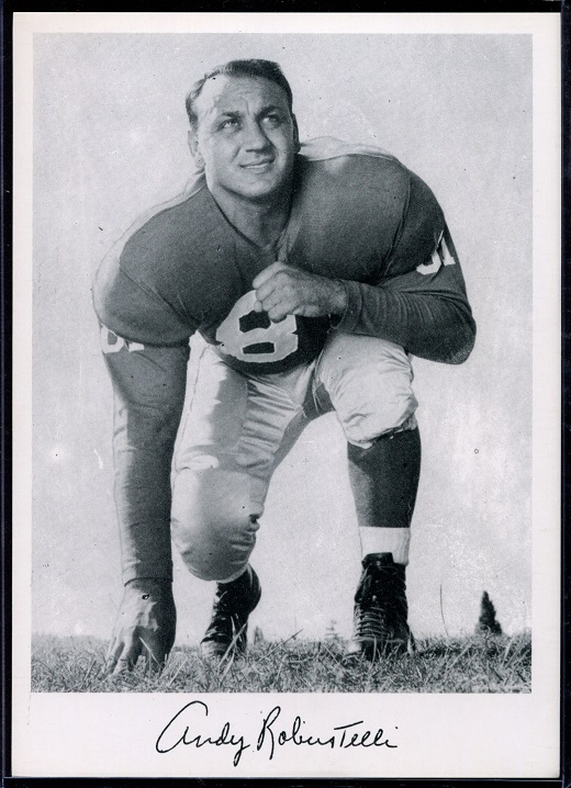Andy Robustelli 1956 Giants Team Issue football card