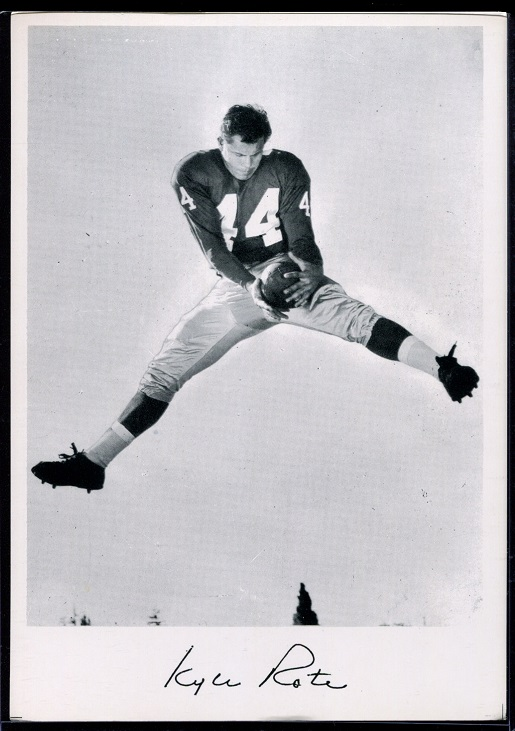 Kyle Rote 1956 Giants Team Issue football card