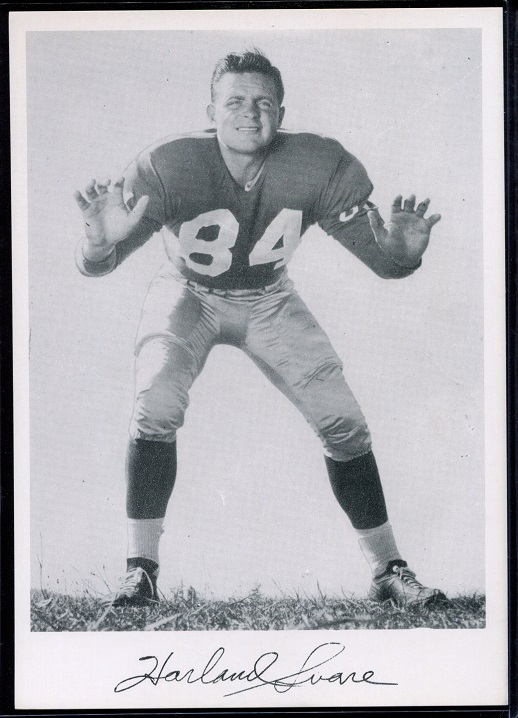 Harland Svare 1956 Giants Team Issue football card