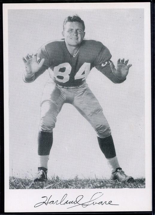 Harland Svare 1956 Giants Team Issue football card