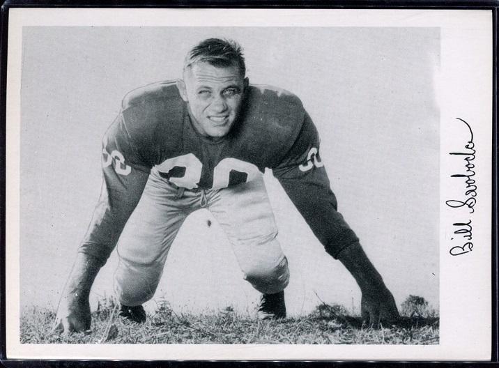 Bill Svoboda 1956 Giants Team Issue football card