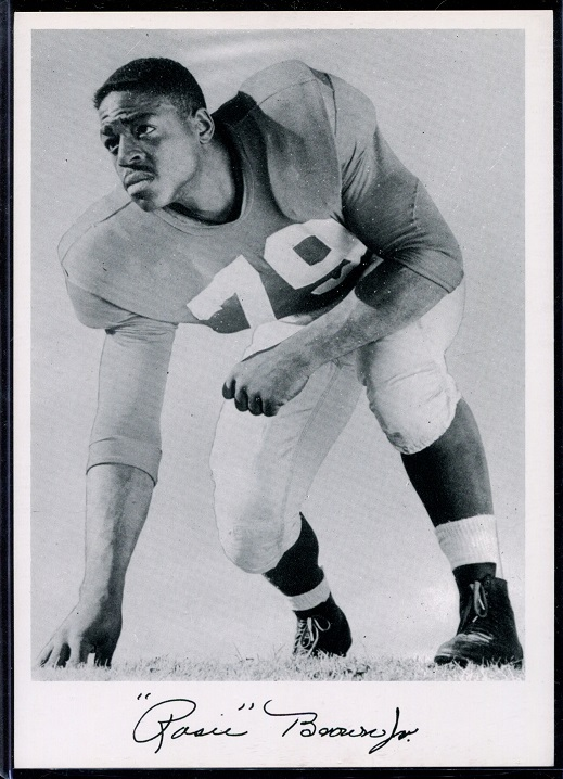 Roosevelt Brown 1956 Giants Team Issue football card