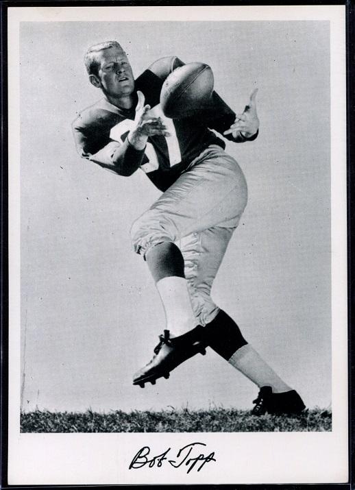 Bob Topp 1956 Giants Team Issue football card