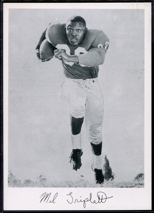 Mel Triplett 1956 Giants Team Issue football card