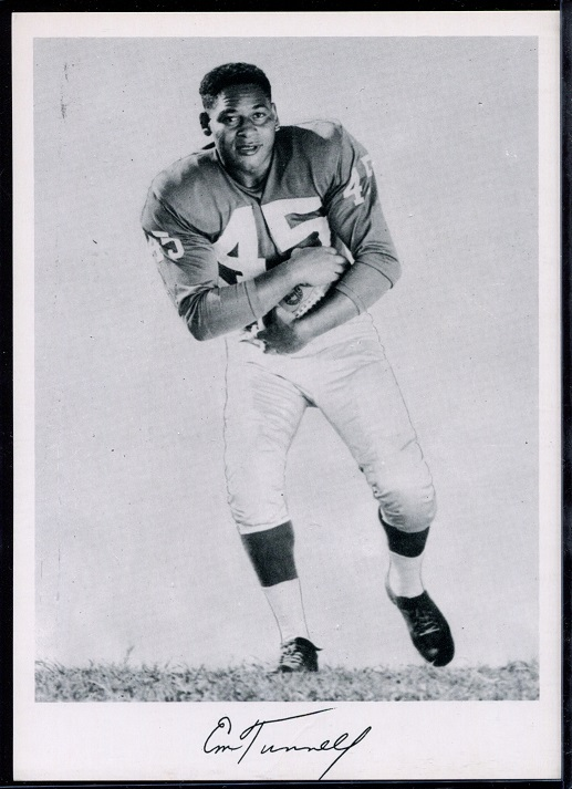 Emlen Tunnell 1956 Giants Team Issue football card