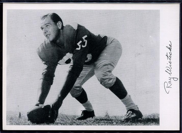 Ray Wietecha 1956 Giants Team Issue football card