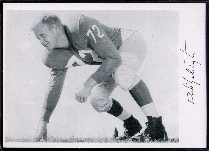 Dick Yelvington 1956 Giants Team Issue football card