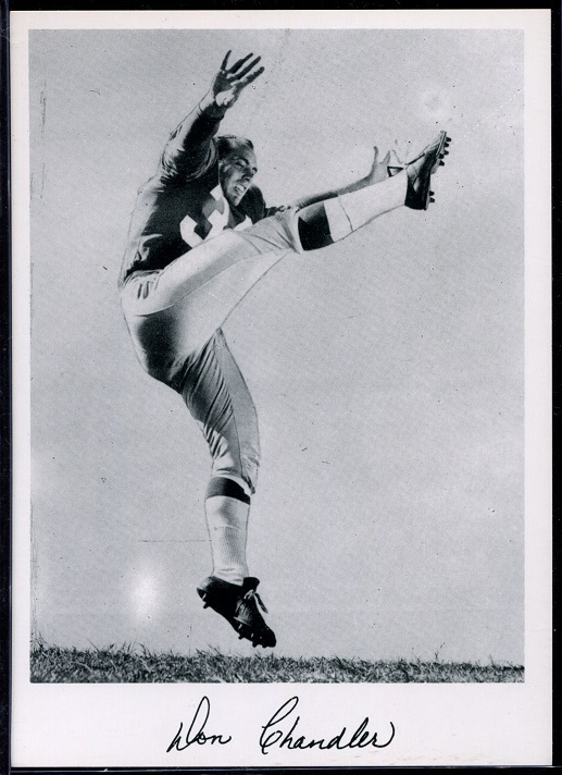 Don Chandler 1956 Giants Team Issue football card