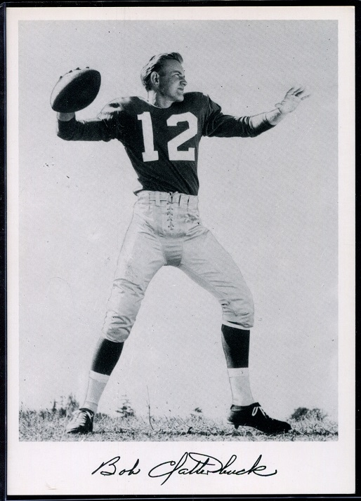 Bob Clatterbuck 1956 Giants Team Issue football card