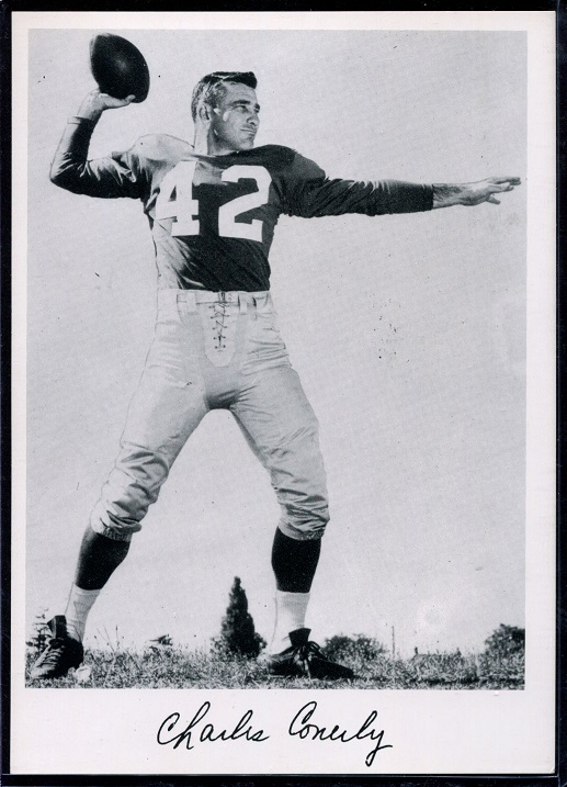 Charley Conerly 1956 Giants Team Issue football card