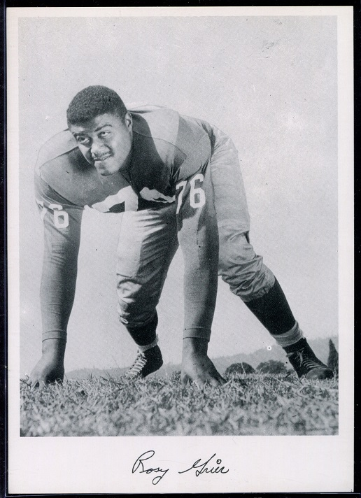 Roosevelt Grier 1956 Giants Team Issue football card