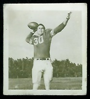 Larry Isbell 1956 Parkhurst football card
