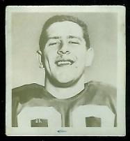 Bill Stevenson 1956 Parkhurst football card