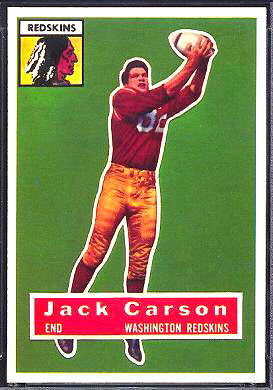 John Carson 1956 Topps football card