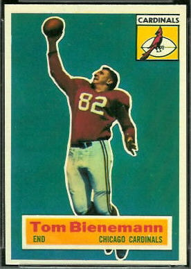 Tom Bienemann 1956 Topps football card