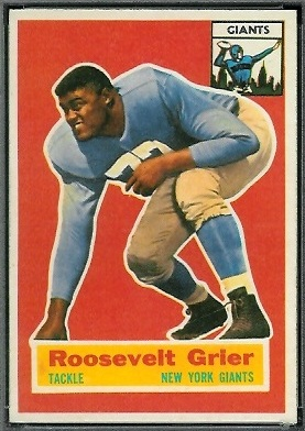 Roosevelt Grier 1956 Topps football card