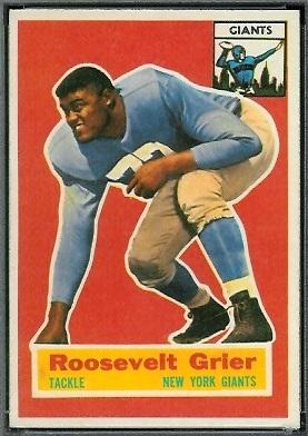 Roosevelt Grier 1956 Topps football card