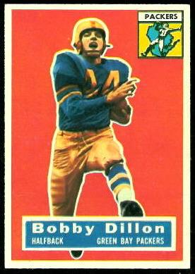 Bobby Dillon 1956 Topps football card