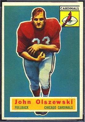 John Olszewski 1956 Topps football card
