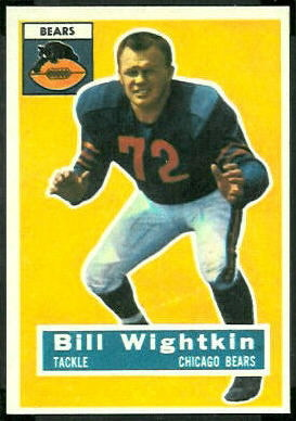 Bill Wightkin 1956 Topps football card