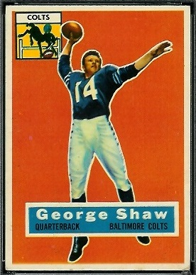 George Shaw 1956 Topps football card