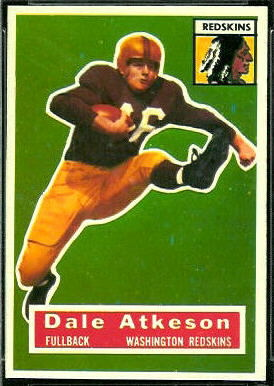 Dale Atkeson 1956 Topps football card