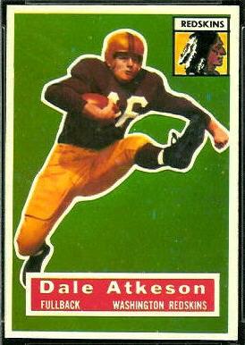 Dale Atkeson 1956 Topps football card