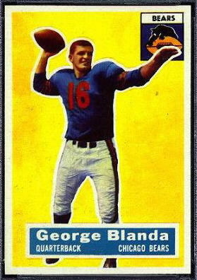 George Blanda 1956 Topps football card